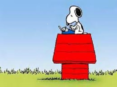 snoopy writer art